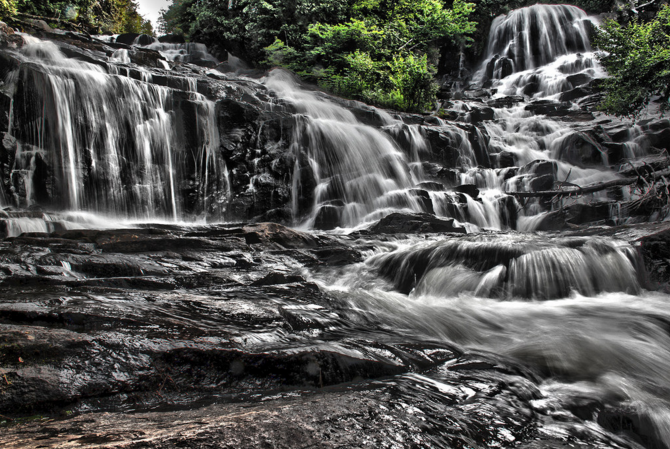 Waterfall, Park, Canada